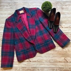 Pendleton Vintage Virgin Wool Plaid Blazer